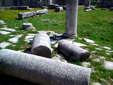 Episcopal centre part of the ancient Roman town Salona (Solin,Croatia)