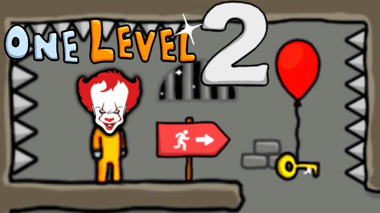 ЗДЕСЬ БЫЛИ КЛОУНЫ? Побег СТИКМЕНА из ТЮРЬМЫ #8 Игра One LEVEL 2 от Cool GAMES