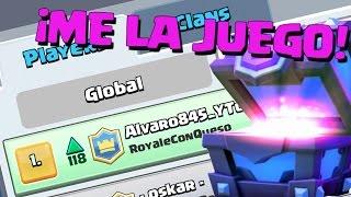 ¡¡JUEGO EL COFRE TROLL SIENDO TOP 1 DE ESPAÑA!! | Clash Royale con TheAlvaro845 | Español