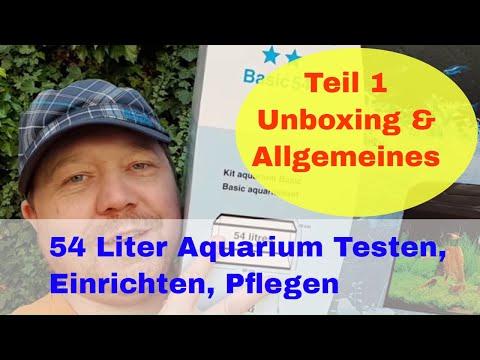 54 Liter Aquarium  Marina Basic. Testen, Einrichten Pflegen Teil 1