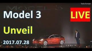 Tesla Model 3 Unveil PART 2 - Live Stream - 28th July 2017 thumbnail