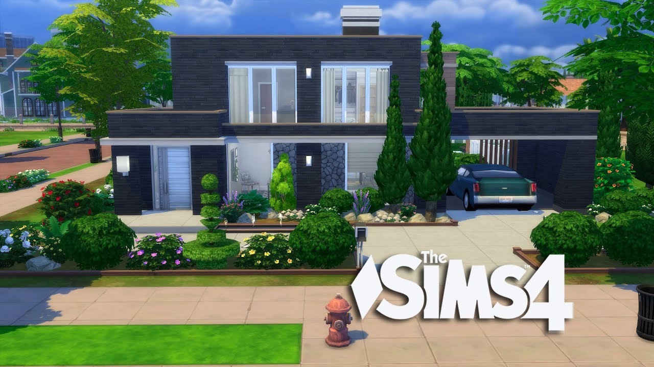 The Sims 4 - Modern Simple Design (House Build) - YouTube