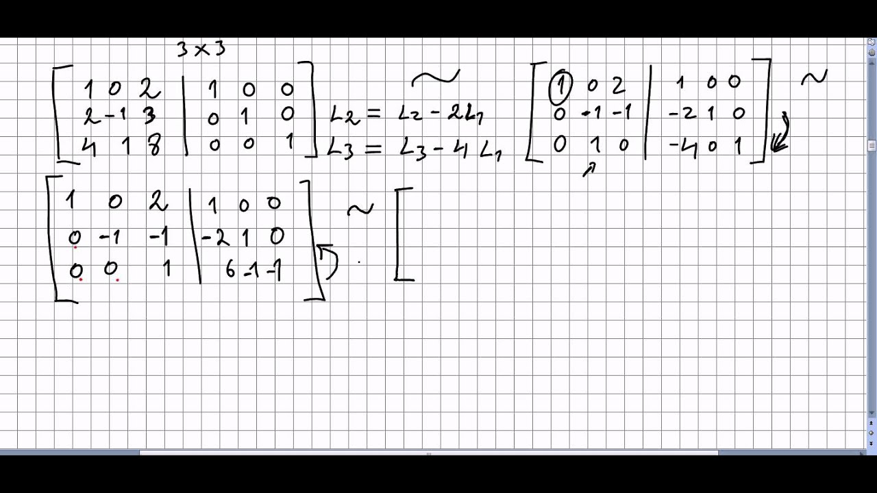 Linear Algebra 83, Calculating the Inverse of a 3x3 Matrix