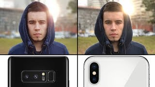 iPhone X vs Note 8 Camera Comparison - Photo Quality