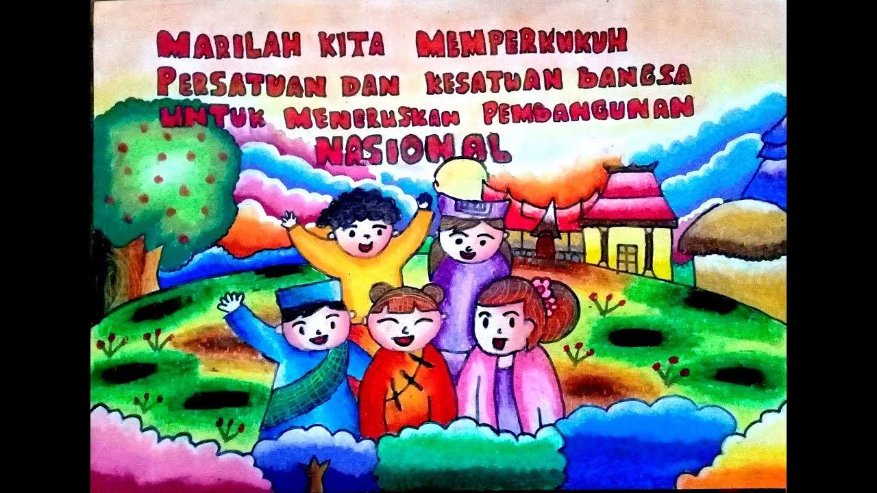 Membuat Poster bertemakan Persatuan dan Kesatuan Bangsa - YouTube