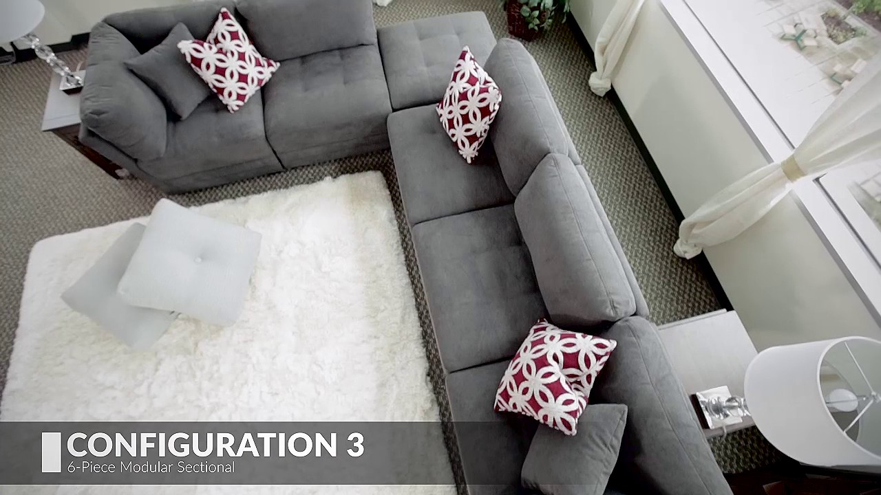 living room arrangements with sectionals white grey quick easy six ways to arrange a sectional youtube