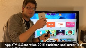AppleTV 4.Generation 2015 einrichten und kurzer Test