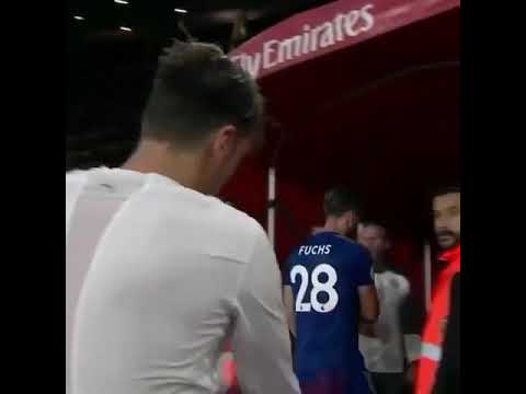 Ozil gives young fan his Arsenal Jersey after Leicester City win