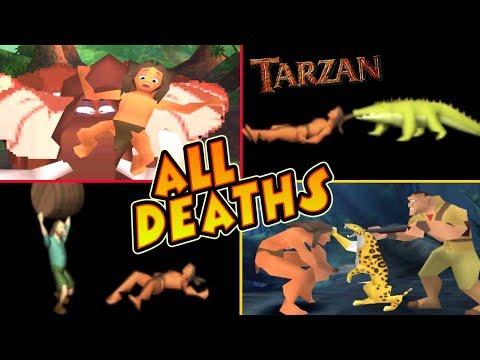 Tarzan All Deaths & Fails   Game Over (PS1, N64, PC)