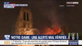 C'est une erreur humaine qui a retardé l'intervention des pompiers à Notre-Dame