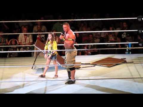 Cena addressing WWE Trenton post match  7/13/13