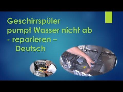 Reparaturanleitung Spulmaschine Auslauf Ablass Ventil Siemens