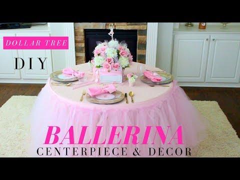 TUTU PARTY IDEAS   DIY BALLERINA CENTERPIECE   BALLERINA PARTY IDEAS