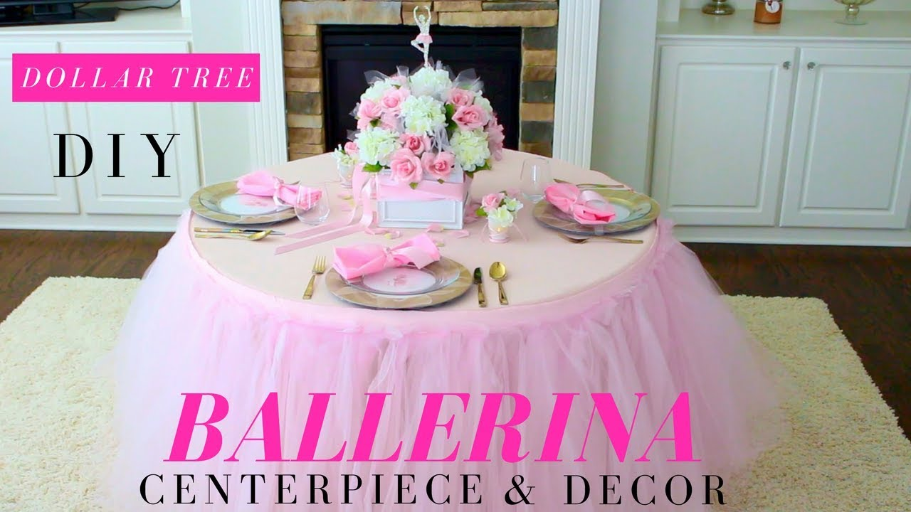 DIY | Ballerina Party Decoration Ideas | Tutu Party Ideas | Dollar ...