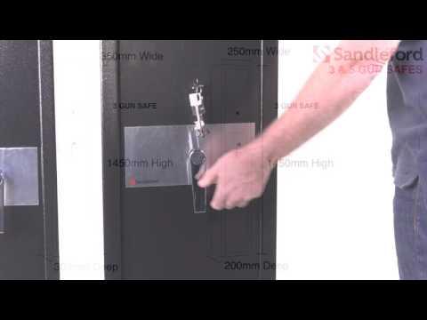 SANDLEFORD GUN SAFE F&B - YouTube