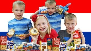 Kids Try Food From the Netherlands || Universal Yums