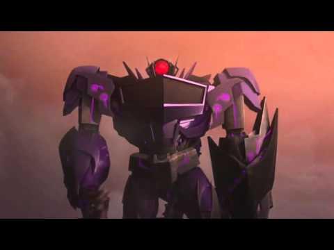 Transformers: Prime Optimus Prime Bumblebee and Smokescreen vs Soundwave Shockwave and Laserbeak