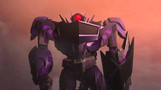 Transformers Prime Optimus Prime Bumblebee and Smokescreen vs Soundwave Shockwave and Lase ...