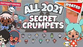 ALL 2021 UPDATED SECRET CRUMPETS   TOCA BOCA  shintomi
