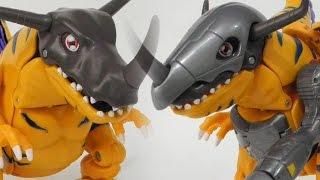 Greymon evolve into MetalGreymon(グレイモン進化メタルグレイモン)-Bandai Digimon Digivolving Figure Toy