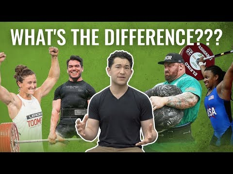 Weightlifting vs. Powerlifting vs. CrossFit vs. Strongman | What's the Difference?