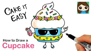 How to Draw a Cool Cupcake   Cute Pun Art #8