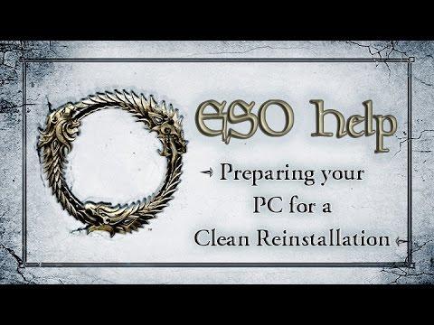 Preparing your PC for a Clean Reinstallation - The Elder Scrolls Online