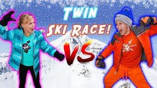 Ninja Twins Ski Race Challenge!
