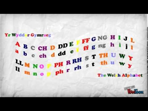 Yr Wyddor Gymraeg / The Welsh alphabet