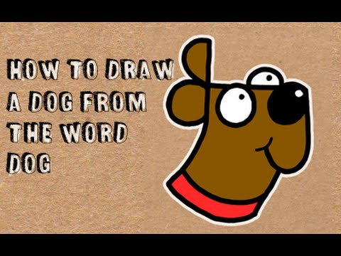 How to draw a dog from the word dog word drawing for kids youtube