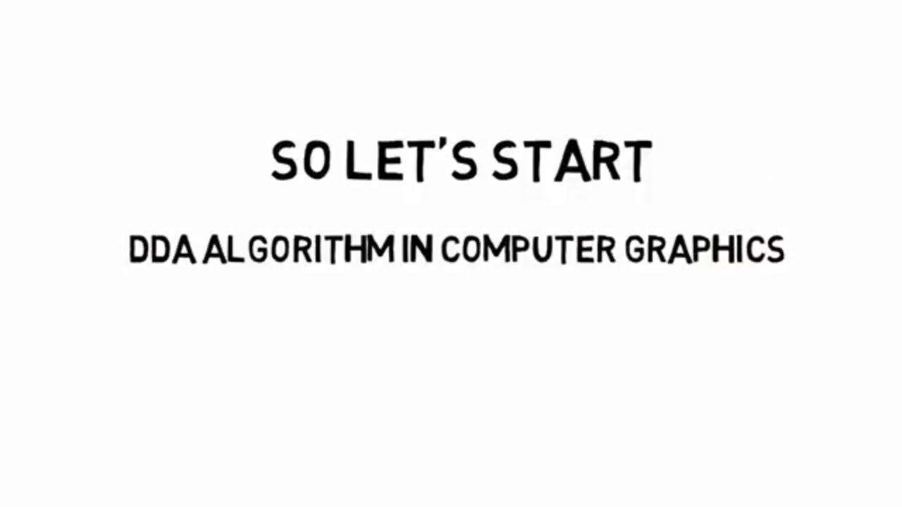 DDA Algorithm in Computer Graphics Solved Example