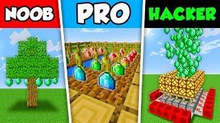 Minecraft NOOB vs PRO vs HACKER : RAINBOW EMERALD FARM in Minecraft Animation!