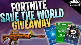 Fortnite - Save The World 60k Giveaway (Fodiggers, Cartes-Cadeaux, et plus)