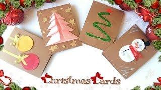 ⛄4 EASY DIY🎄 Christmas Cards! Handmade!⛄