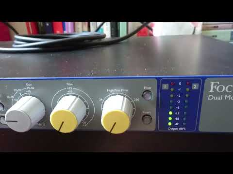 How to Calibrate Focusrite ISA 2 Mic Preamp with UAD Apollo Twin MKII Thunderbolt Audio Interface