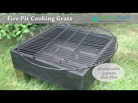 Fire Pit Cooking Grate Demo by Serenity Health