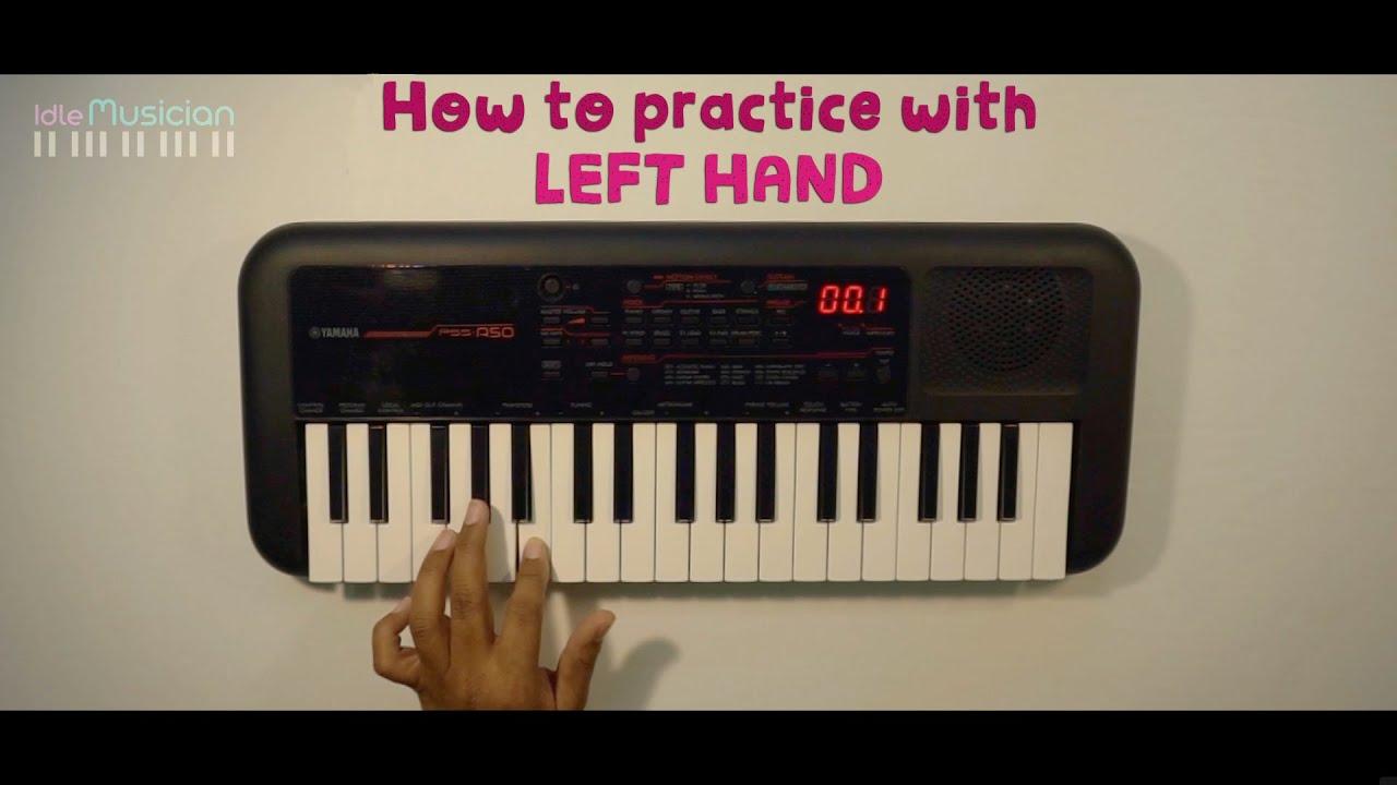 Beginner Keyboard Lessons - Part 2 - Left Hand Practice - Sarali swaralu