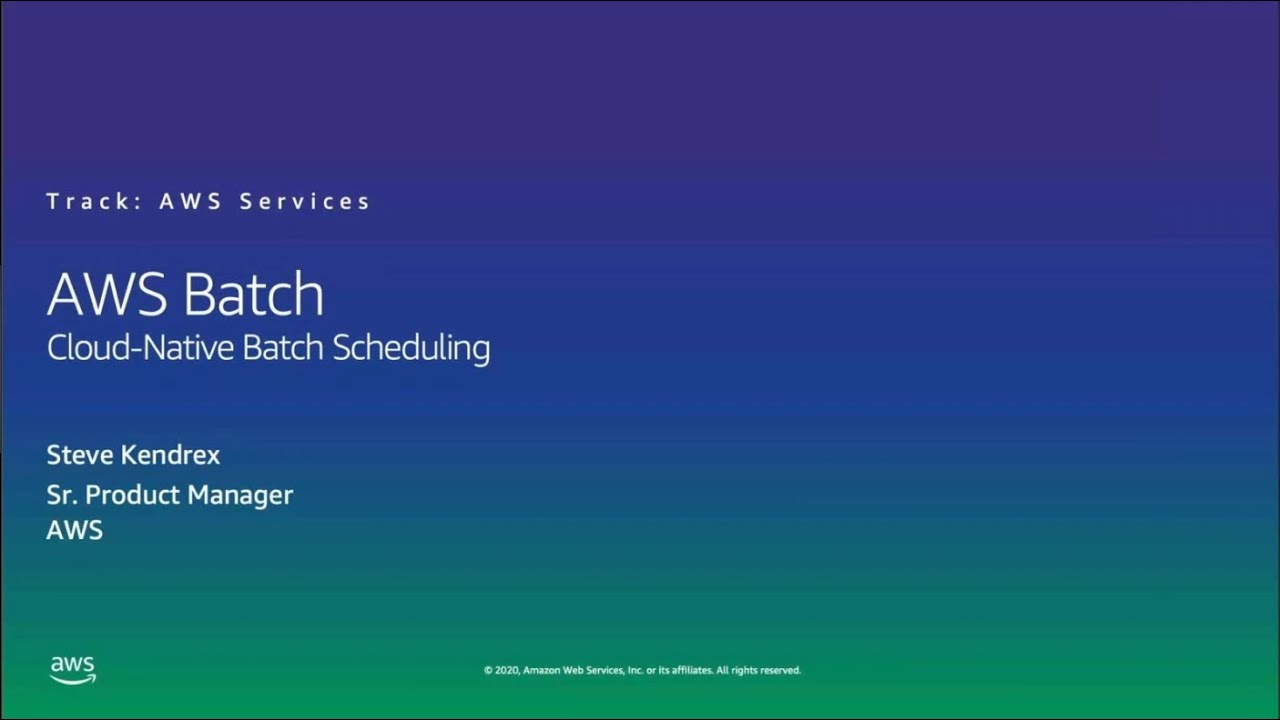 HPC on AWS Event - AWS Batch, Cloud-Native Batch Scheduling