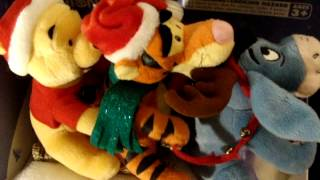 "Gemmy Disney Animated Pooh Eeyore & Tigger Christmas Sleigh Ride ""jingle Bells"""