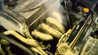 Установка выпускного коллектора ПАУКА 4 2 1 Mitsubishi Lancer IX 2.0L с виброкомпенсатором гофрой
