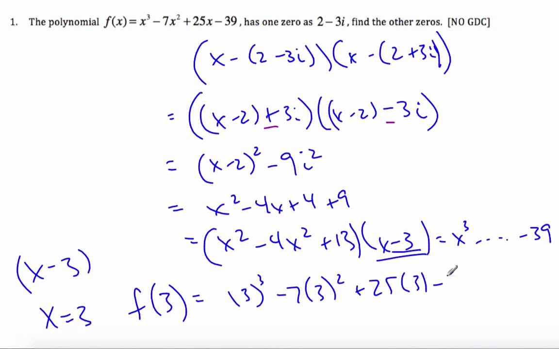 IB Math HL - Complex Numbers and Polynomials 13.02.0 - YouTube