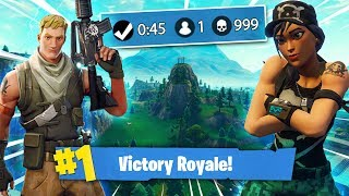 Teaching a Default Skin how to play Fortnite! - (Getting him his first Win)