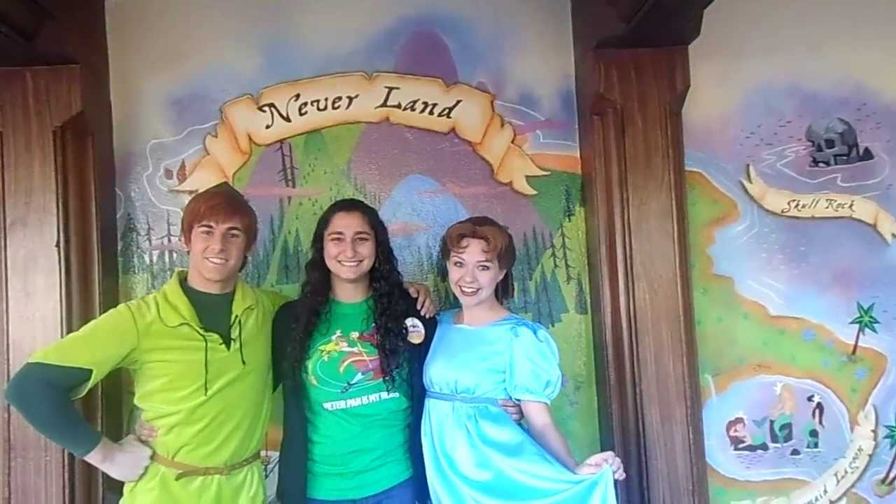 Meeting peter pan wendy in disney world youtube kristyandbryce Image collections