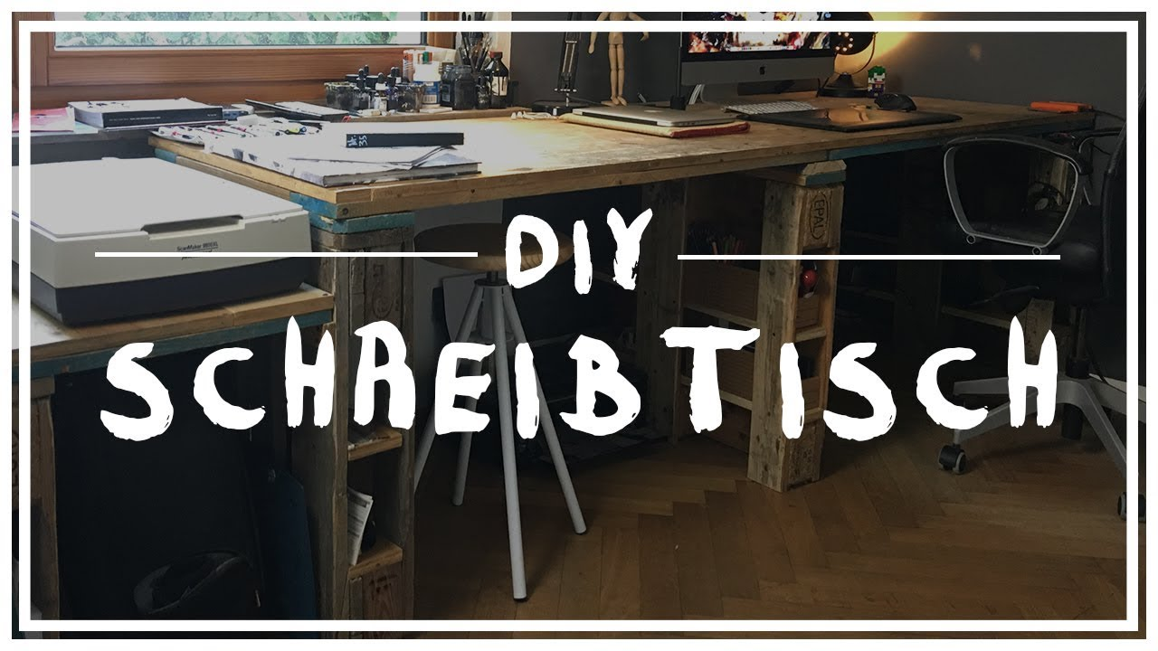 Künstlerisch Schreibtisch Diy Ideen Von Diy: Europaletten Umbau