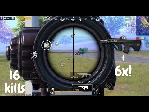 Aug + 6x SCOPE NO RECOIL | PUBG MOBILE | ASIA