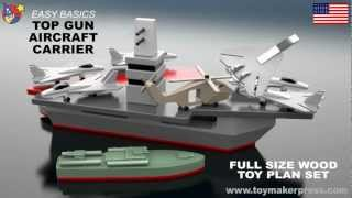 Wood Toy Plans - Top Gun Aircraft Carrier