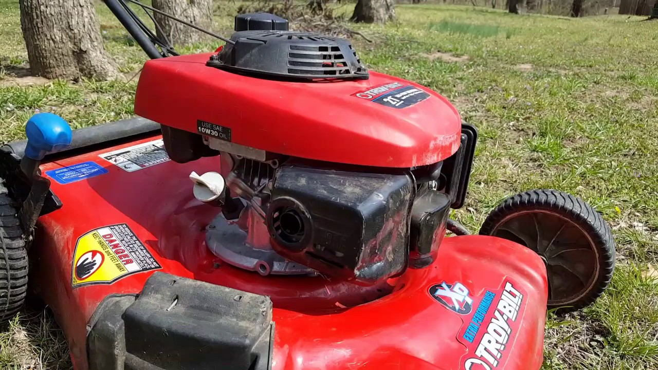 Honda Gcv160 Xp Troy Bilt Mower With No Compression Problem Youtube