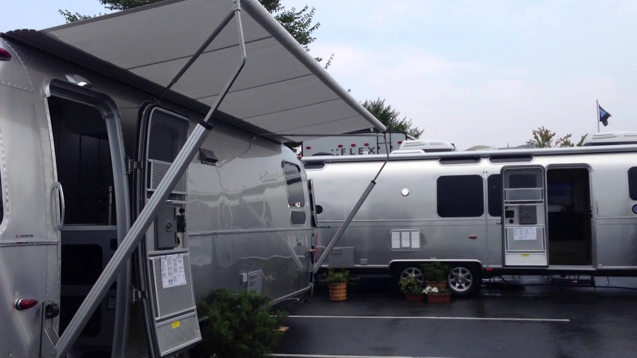 Airstream Power Awning Zip Dee Relax Patio 2014 International Sterling 27FB Operation