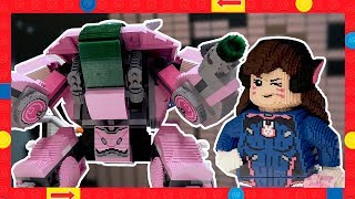Building LEGO Overwatch D.Va and Mech in Real Life - Model Shop Time-lapse