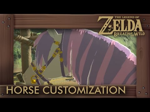 Zelda Breath of the Wild - All Horse Customizations (How to Change Mane, Bridle & Saddle)